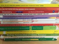 Standard Grade to Advanced Higher Chemistry / Biology Books and Past Papers for sale