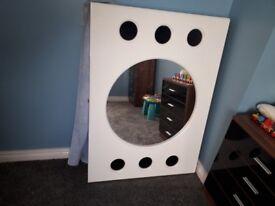 Mirror and 4 panel door for sale. Door brand new
