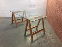 Bespoke Retro/Vintage trestle dining table