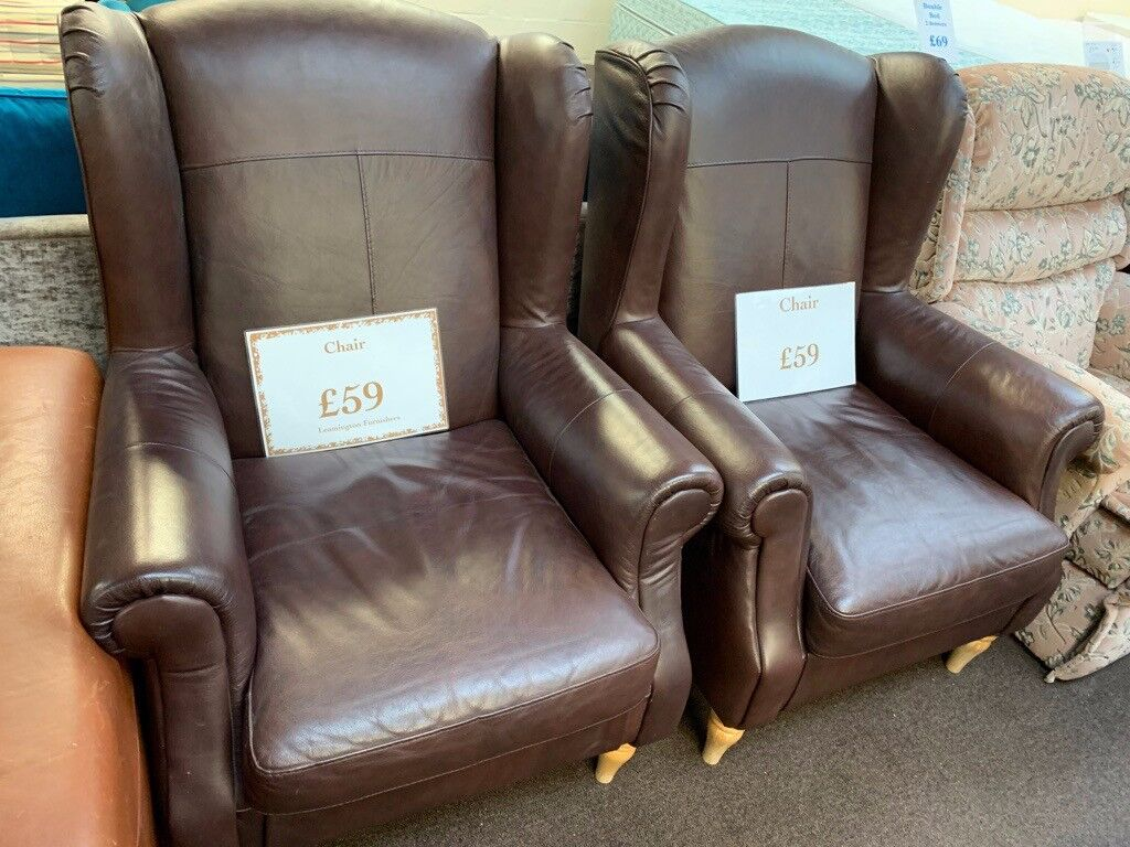 Large Leather Wing Back Fireside Armchair 2 Available In Warwick Warwickshire Gumtree