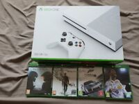 Xbox One S Brand New unopened and 4 Games Unopened