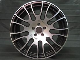 Set of 4 x 20 inch Staggered Alloy Wheels Rims Black Silver fits Jeep, Subaru, Lexus, Nissan etc