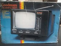 "Goodman's quarto 901 5"" black & white portable television"