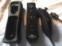Nintendo Wii U Remote Plus Controller (Black) + Nunchuk (Black) - OFFICIAL