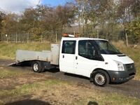 FORD TRANSIT t350 CREW CAB 2.4 DIESEL 2010 10-REG BEAVERTAIL PLANT RECOVERY TRUCK DRIVES EXCELLENT