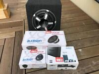 Car amp and speaker package