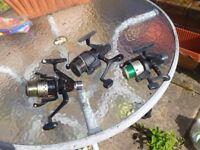 THREE FISHING REELS