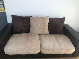 Leather Brown DFS Sofa (SOLD)
