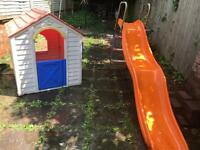 Kids garden slide and play house £60 only 👀