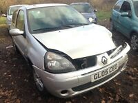 2005 Renault Clio MK2 1.2 16v Extreme 3dr silver ted69 BREAKING FOR SPARES