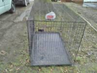 Large dog cage.