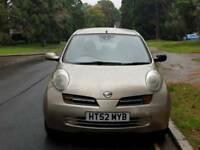 NISSAN MICRA AUTOMATIC 1.2L 5DOOR 59000 WARRANTED MILE 2 OWNERS 9SERVICE MOT TILL10/9/2018 HPI CLEAR