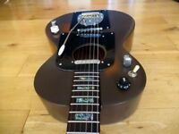 """Custom Vintage Dog, Rosetti Parlor Acoustic With Fender Replacement Hardware"""