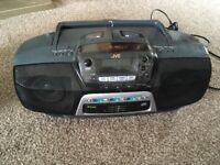JVC RC-QC7 boombox portable 3 cd deck, dual tape and radio stereo