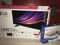 LG 43 inch tv + playstation 4 500gb (new) + receipts !!!