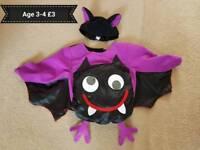 Age 3-4 Bat Costume/Dressing Up/Fancy Dress