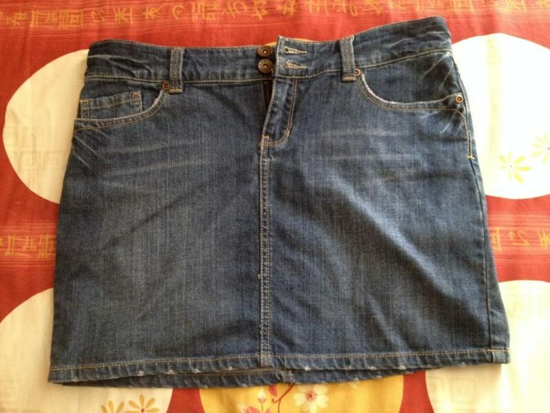 New Blue Denim Mini Skirt From Net