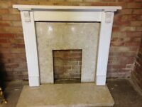 Fire surround with marble