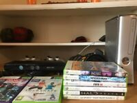 Xbox 360 complete with kenict and games