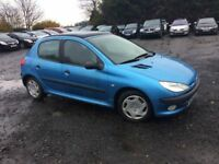 peugeot 206 diesel 50+ mpg low miles cheaper px welcome £300