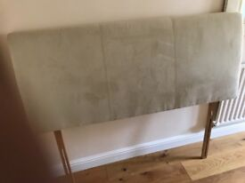 Cream suede head board 5ft