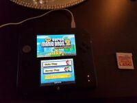 2ds Black with Pokemon Omega Ruby and Super Mario Bros 2
