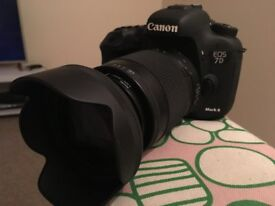 Canon EOS 7D Mark Two + lense + charger + memory cards