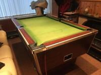 6x4 foot slatebed pool table