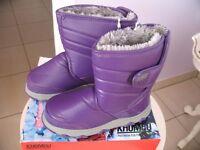 Khombu purple snow boots UK size 4