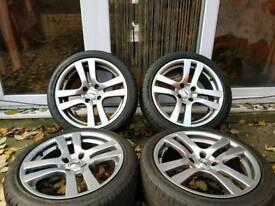 17 INCH ALLOY WHEELS WITH TYRES PEUGEOT CITROEN FORD 4X108