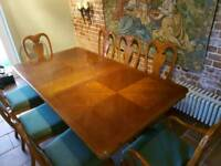 Mahogany solid wood Dining table and chairs for 8