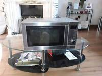 Silver microwave and grill