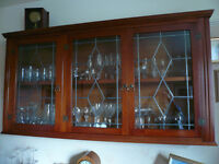 Wooden Dining room display cabinet, with glass doors