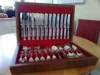 12 Place setting - Smith Seymour Ltd, Kings design Canteen of Cutlery, boxed