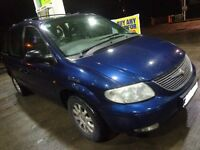 2002 to spec 7 seater chrysler voyoger 2.5 diesel with leather interior+mot+tax DRIVEAWAY / DELIVERY