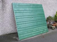 Free up and slide garage door.