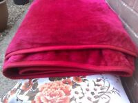 RED MINK BLANKET/THROW - EXTRA LARGE!