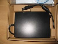 NEW BOXED 3.4 INCH EXTERNAL FLOPPY DISK DRIVE WITH USB CABLE AND SOFTWARE