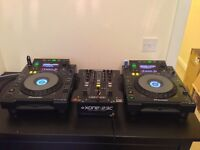 Pioneer cdj 900's with Allen&Heath mixer