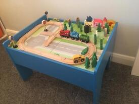 Kids New Train Track Play Table