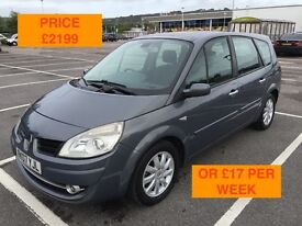 2007 RENAULT GRAND SCENIC DCI 150 / NEW MOT / PX WELCOME / 7 SEATS / CARDS TAKEN / WE DELIVER