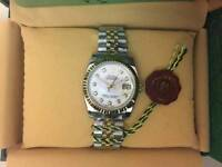 New Swiss Men's Rolex Oyster Datejust Perpetual Automatic Watch, Stone face Dial