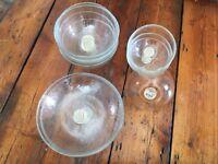 MUJI glass bowls