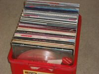 """GIANT BOX OF VINYL LPs & 12"""" - 60s-70s-80s WITH LOADS OF COLLECTABLES & RARITIES EXCELLENT!"""