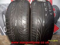AA67. 2X 235/55/17 99Y ZR 2X4MM DUNLOP SP SPORT 9000 - USED TYRES