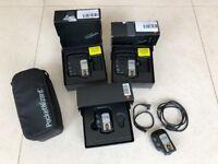 Set of 2 PocketWizard FlexTT5 Transceiver and 2x MiniTT1 (Canon)