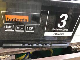 Halfords battery HB096 70Ah 12V