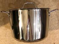 House of Fraser Connisseur 26cm 8L Stainless Steel Stock Pot - Great Condition