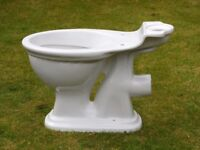 *Good Condition White Porcelain Traditional Style Toilet Decorative Novelty Garden Planter Pot? *