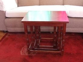 Bargain! NEST OF TABLES- solid wood